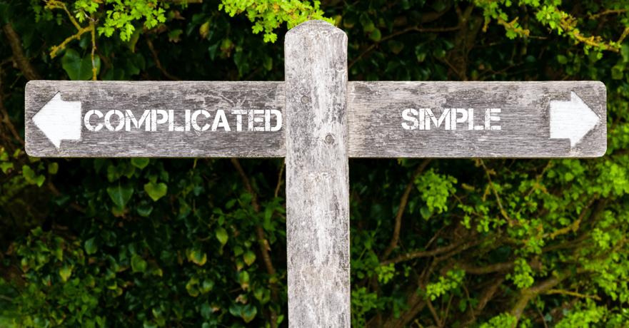 Veiskilt: Complicated - Simple - Alt du trenger å vite om leadsgenerering