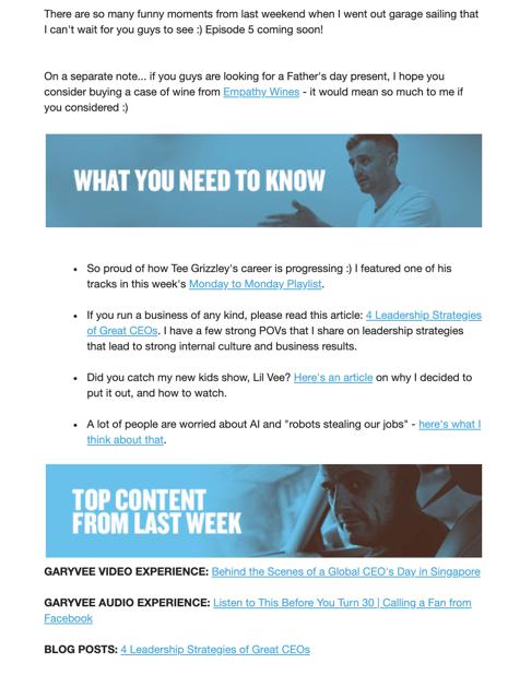 Gary Vaynerchuk e-post